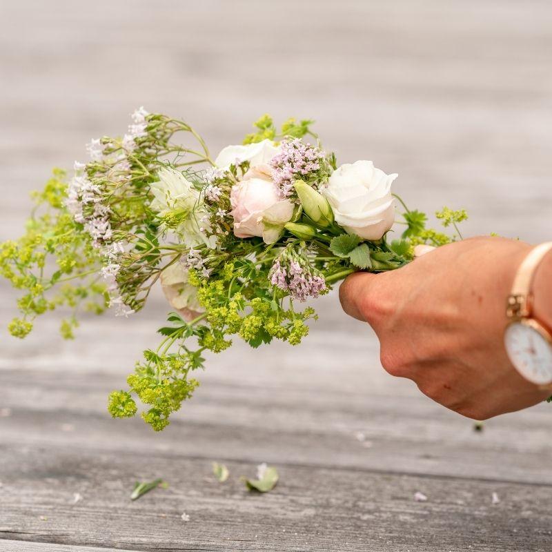 Bloemenkrans maken
